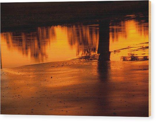 Sunset After Rain Wood Print