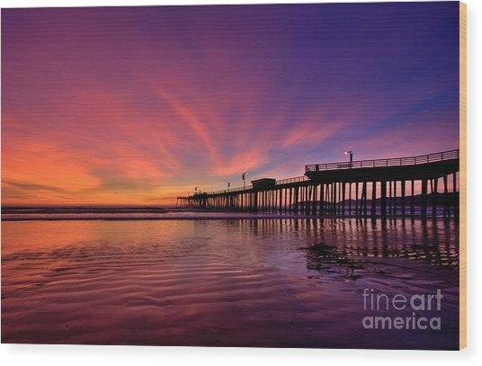 Sunset Afterglow Wood Print
