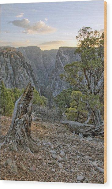 Sunset At Black Canyon Wood Print