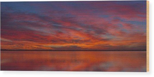 Sunset At Cheyenne Bottoms 1 Wood Print