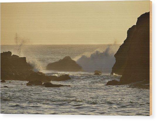 Sunset At Half Moon Bay Wood Print