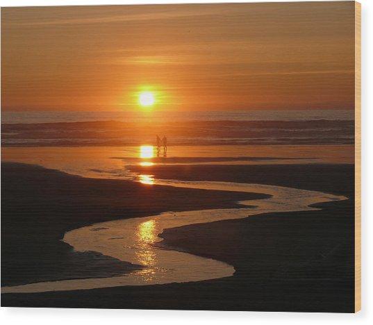 Sunset At Kalaloch Wood Print