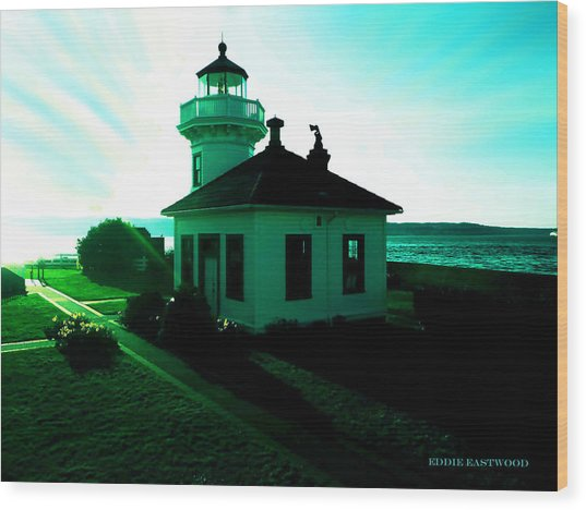 Sunset At Mukilteo Lighthouse Park  Wood Print