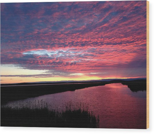 Sunset At North Pool Wood Print