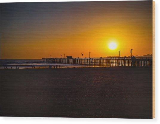 Sunset At Pismo Wood Print