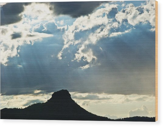 Sunset At Prescott Sun 134 Wood Print