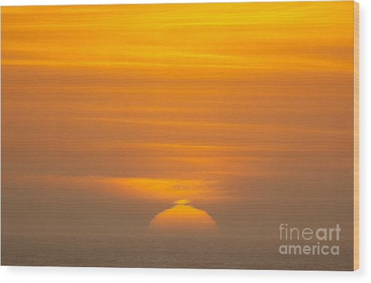 Sunset At Samoa 1.7117 Wood Print by Stephen Parker