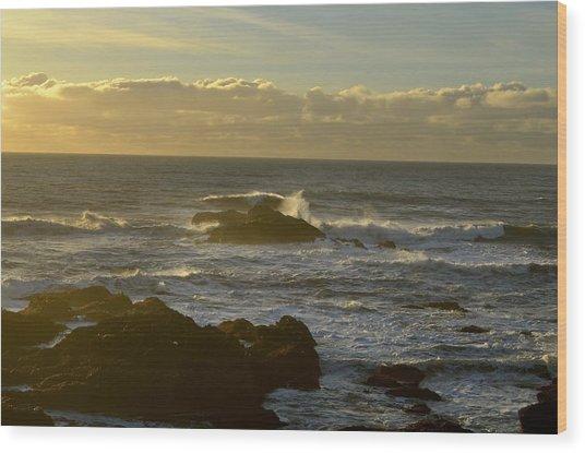 Sunset At Santa Cruz Wood Print