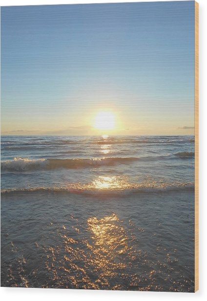 Sunset At Sauble Beach  Wood Print