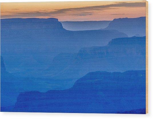Sunset At South Rim Wood Print