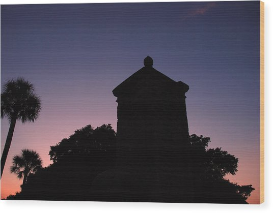 Sunset At The Gate Wood Print