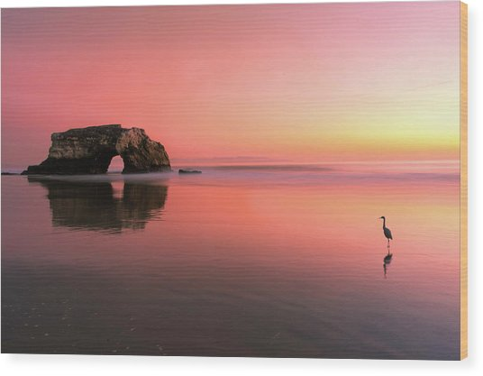 Sunset At The Natural Bridge-2 Wood Print
