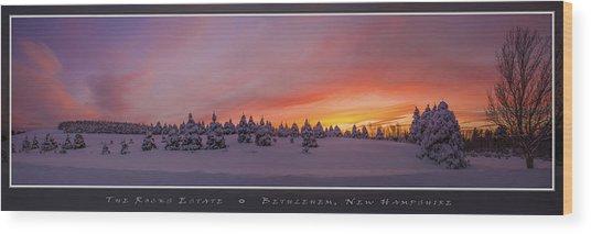 Sunset At The Rocks Wood Print