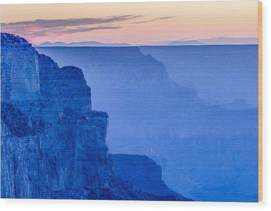 Sunset At The South Rim Wood Print