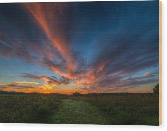 Sunset At Valley Forge Wood Print