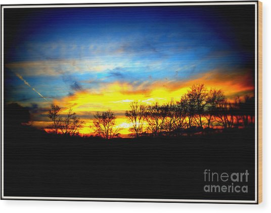Sunset Beauty Wood Print