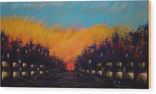 Sunset Boulevard Wood Print
