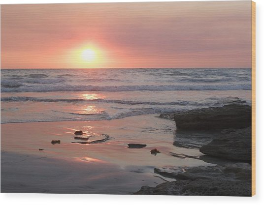 Sunset Cable Beach Wood Print