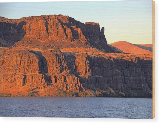Sunset Cliffs At Horsethief  Wood Print