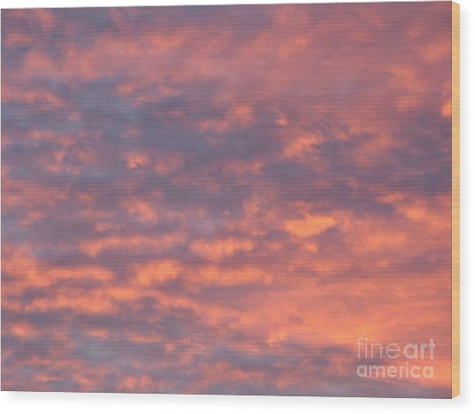 Sunset Clouds Wood Print by Mark Bowden