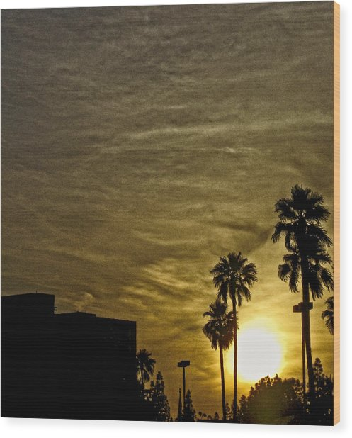 Sunset Clouds Wood Print by Marquis Crumpton