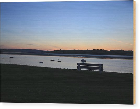 Sunset Courtmacsherry Co Cork Wood Print by Maeve O Connell