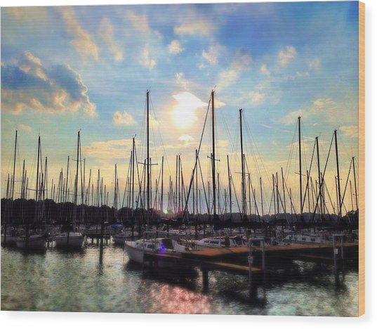 Sunset Cove Wood Print