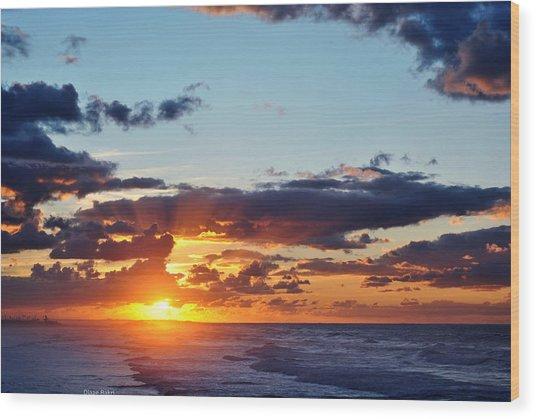 Sunset Wood Print by Diaae Bakri