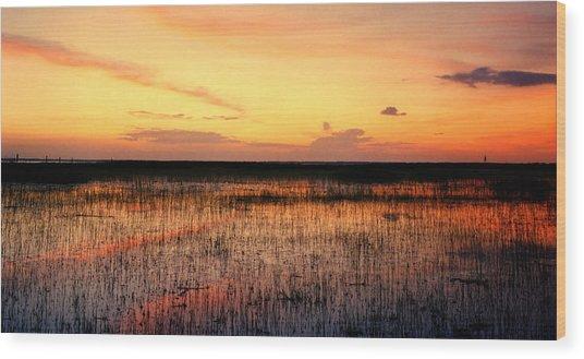 Sunset. East Lake Toho. Wood Print