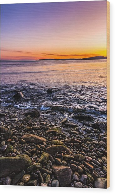 Sunset Photos Elgol Isle Of Skye Wood Print