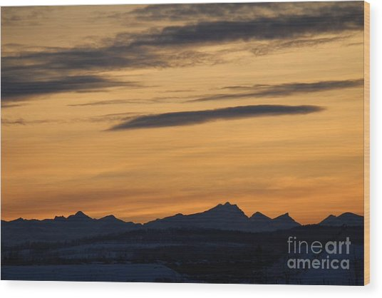 Wood Print featuring the photograph Sunset From 567 by Ann E Robson