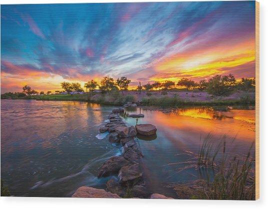 Sunset Glory Wood Print