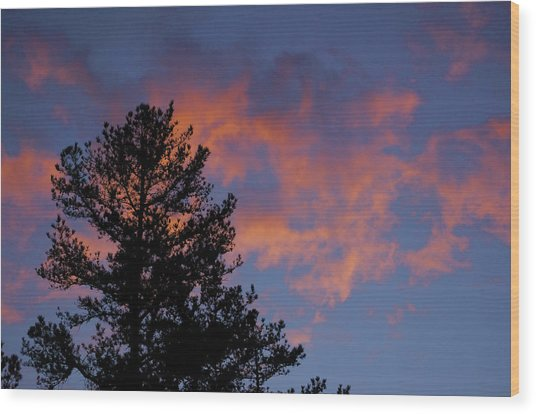 Sunset Glow Wood Print