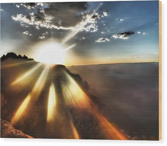 Sunset Grand Canyon Wood Print