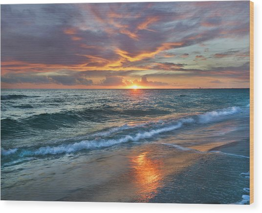 Wood Print featuring the photograph Sunset Gulf Islands National Seashore by Tim Fitzharris