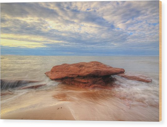 sunset hour at PEI National Park. Wood Print
