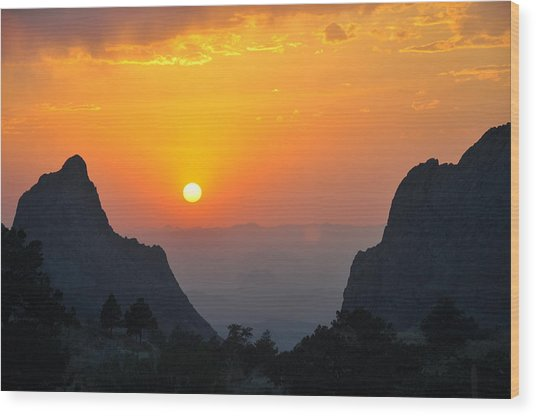 Sunset In Big Bend National Park Wood Print