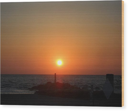Sunset In Captiva Wood Print