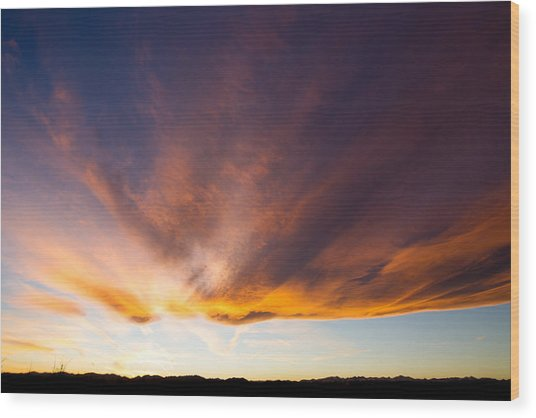 Sunset In Colorado Wood Print