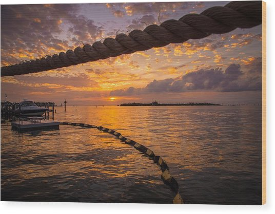 Sunset In Key West Wood Print