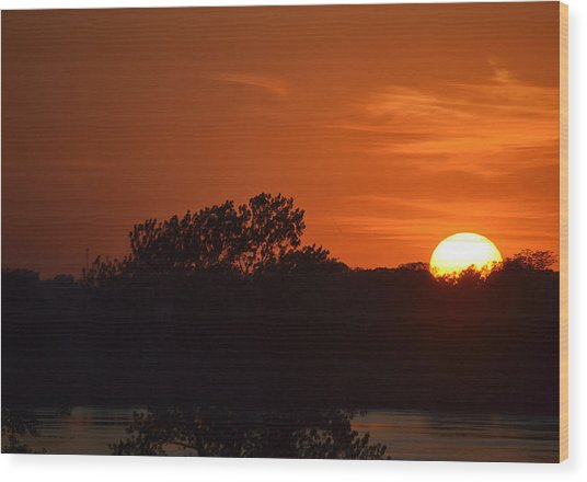 Sunset In Music City Wood Print by Joe Bledsoe