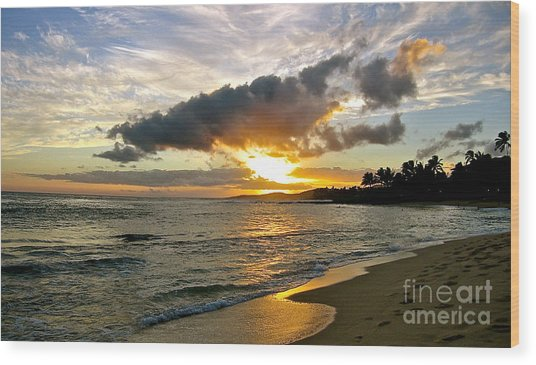 Sunset In Paradise Wood Print by Jason Clinkscales