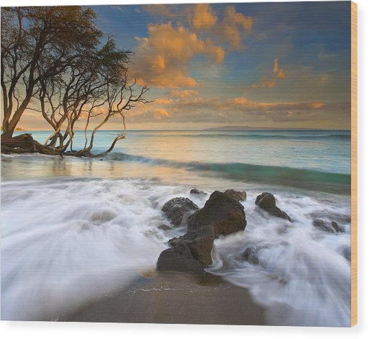 Sunset In Paradise Wood Print
