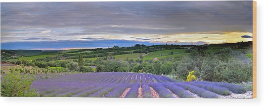 Sunset In Provence Wood Print