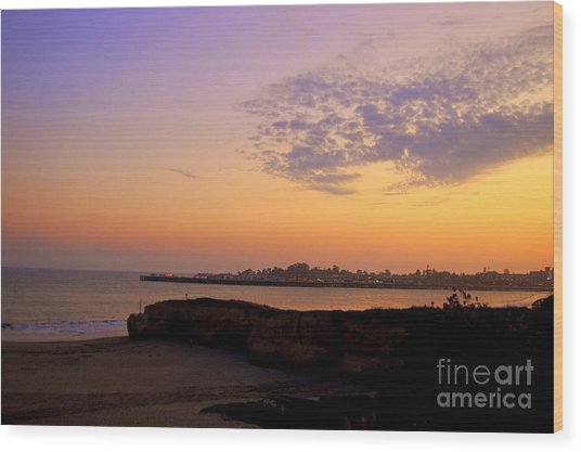 Sunset In Santa Cruz California  Wood Print