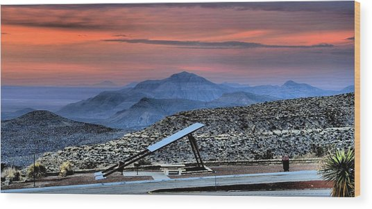 Sunset In The Guadalupes Wood Print