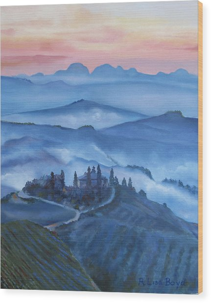 Sunsets In Tuscany Italy Wood Print