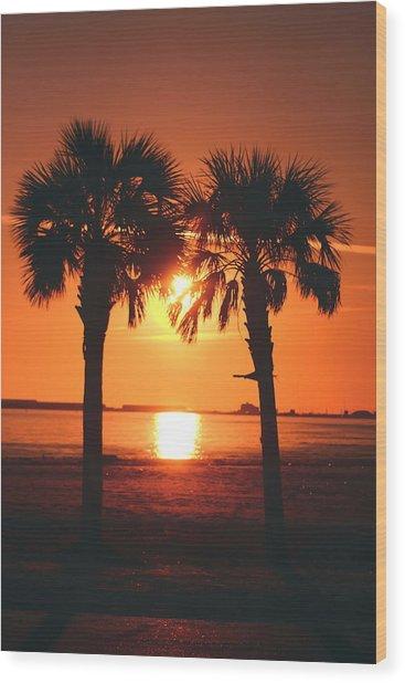 Sunset Wood Print by Jennifer Burley