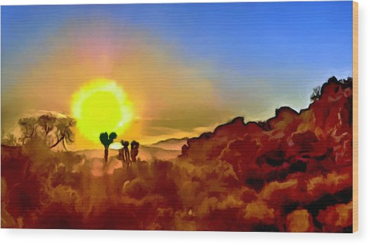 Sunset Joshua Tree National Park V2 Wood Print