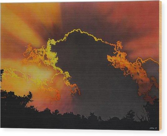 Sunset Wood Print by Konstantinos-Pimba Botas